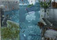 """Klasse 8b (2011/2012) - Combine Painting """"Mein Platz in meiner Stadt / Fundstücke"""""""