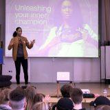 Zweimalige Olympiasiegerin referiert über Ziele im Leistungssport am Lessing
