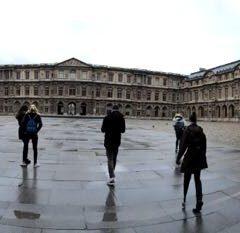 Sous la pluie à Paris