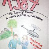 "Englisch-LK kreativ: Book cover zu George Orwells ""1984"""