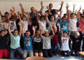 Robin Bormuth begrüßt die neuen 5. Klassen am Lessing