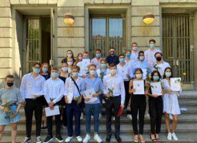 Aufrufen zur Solidarität: Maske tragen am Lessing!